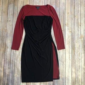 Lauren Ralph Lauren Faux Wrap Dress Colorblock